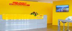 insegne negozi Biella, insegne luminose negozi Biella, insegne luminose negozio DHL Service Point a Vigliano Biellese - Biella