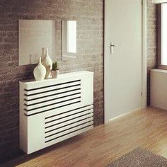 Moderne look radiator behuizeing House Design, Radiators Modern, House Interior, Tall Cabinet Storage, Diy Home Decor, Interior, Cabinet, Heater Cover, Cabinet Design