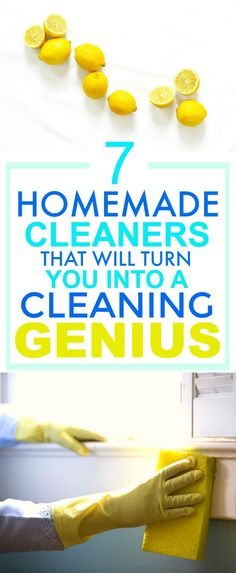 These 7 Easy Homemade Cleaners are SO GOOD! They've saved me A TON of money! I'm so happy I found this GREAT post! I'm definitely pinning this for later so I don't forget ANY of them!