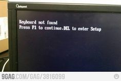 One does not simply press F1 without a keyboard