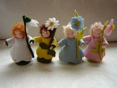 spring flower children by Poppelien on etsy