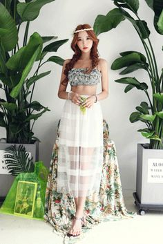Today's Hot Pick :Sheer Mesh Striped Maxi Skirt http://fashionstylep.com/SFSELFAA0022205/insang1en/out Join in on the maxi craze with this stylish sheer mesh striped maxi skirt. Wear it with a fitted top and flat strappy sandals for an ethereal look. - High-waisted - Elasticized waistband - Flared - Sheer striped mesh fabric with lining - Calf-length hem - Available color(s): Black, Ivory
