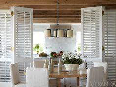 Love the idea of shutters between rooms!