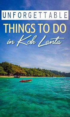 Sunset cocktails, water actvities, reggae bars, and cuddling with cats and dogs are just a few things to do in Koh Lanta during your next visit! | Tieland to Thailand