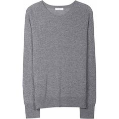 EQUIPMENT Sloane Crewneck Heather Grey Women's Cashmere Sweater found on Polyvore