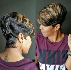 """Iroquois"" Women's Haircut in 2018 With Clarified Tips of Hair"