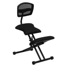 Lancaster Home Ergonomic Kneeling Chair with Black Mesh Back and Fabric Seat (Black) Ergonomic Kneeling Chair, Ergonomic Chair, Black Office Furniture, High Back Office Chair, Office Desk, Conference Room Chairs, Executive Office Chairs, Seat Pads, Black Mesh