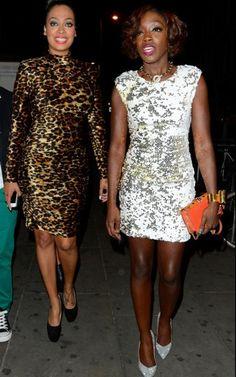 Lala wears a vintage Patrick Kelly leopard printed dress