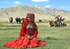 A girl wearing traditional dress of Hunza, Gilgit Baltistan