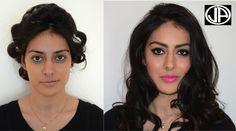 Makeover ....Contouring Makeup Light Smokey Eyes Pink lips