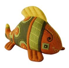Felt toys representing surrounding nature and pets. Children will elaborate understanding the world. Sustainable felt fish. 100% wool, natural, handmade toys.