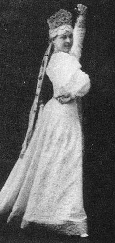 Princess Zinaida Nikolaevna Yusupova (1861 – 1939) performs a Russian dance at…