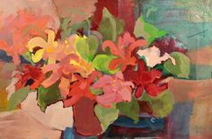 "Floral Acrylic 30"" x 38"""