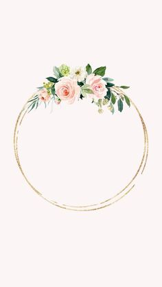 carol a crazy girl - deco mariage deco ch Flower Backgrounds, Wallpaper Backgrounds, Iphone Wallpaper, Frame Floral, Flower Frame, Floral Watercolor Background, Watercolor Flowers, Pink Wallpaper, Flower Wallpaper