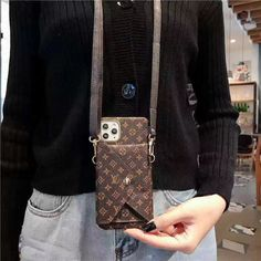 Buy Wholesale Long Strap LV Monogram Crossbody Genuine Leather Case Book Back Holster Cover For iPhone 11 Pro Max - Brown from Chinese Wholesaler Louis Vuitton Phone Case, Louis Vuitton Crossbody, Iphone Phone Cases, Iphone 11, Louis Vuitton Pattern, Telephone Iphone, Accessoires Iphone, Designer Party Wear Dresses, Iphone Leather Case