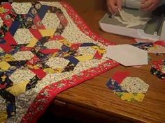 Accuquilt  Go! Twirling Hexagon Baby Quilt