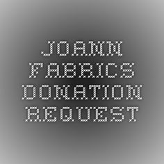 JoAnn Fabrics: supports kids' health and arts and education. Click image to go to application