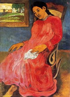 Melancholic by Paul Gauguin in oil on canvas, done in Now in Nelson-Atkins Museum of Art. Find a fine art print of this Paul Gauguin painting. Eugène Henri Paul Gauguin, Canvas Prints, Van Gogh, Artist, Painting, Henri Matisse, Painting Prints, Post Impressionists, Paul Gauguin