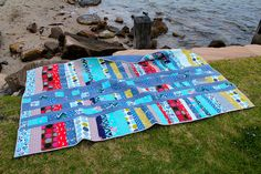 Scrappy Quilt - love the colors