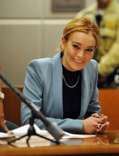 Lindsay Lohan celebrates in #Court as her #Probation finally comes to an end...