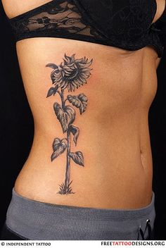 piece by piece...in color and looking upward sunflower tattoo | Tumblr