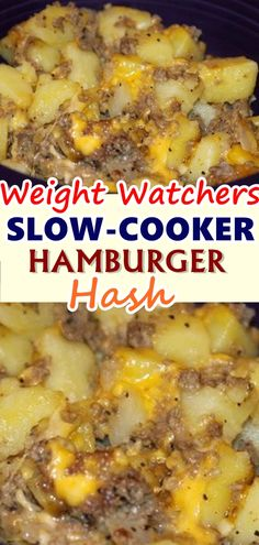 I tested this recipe a few times before I came up with the version below, my husband liked them all, me not so much. The first time I made it without the cream of mushroom, and used beef broth and a can of diced tomatoes and oregano for seasoning. Weight Watchers Hamburger Recipe, Healthy Hamburger Recipes, Weight Watchers Menu, Weight Watchers Breakfast, Easy Healthy Recipes, Skinny Recipes, Ww Recipes, Waffle Recipes, Dessert Recipes