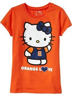 My cousin's little girl, Katie, loves OSU and Hello Kitty! Hello Kitty T Shirt, Hello Kitty Items, Oklahoma State University, Oklahoma State Cowboys, Team Shirts, Kids Shirts, Go Pokes, Pistol Pete, Old Navy Kids