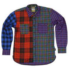 Reflective Menswear Tops : Betabrand Reflective Plaid