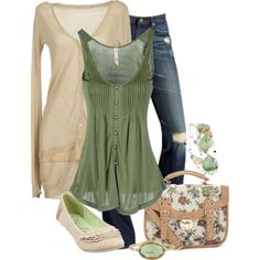 spring outfits pinterest | Spring Outfits | Green & Cream | Fashionista Trends