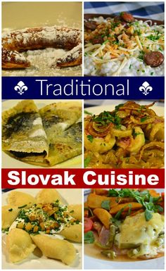 Slovakian food is hearty - lots of meat, potatoes, dumplings, cheese, & thick sauces. Learn where to eat Slovak cuisine at the best Bratislava restaurants! Slovak Recipes, Czech Recipes, Ethnic Recipes, Austrian Recipes, Slovakian Food, Bratislava Slovakia, European Cuisine, European Vacation, European Travel