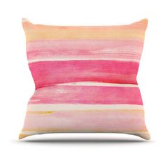 Kess InHouse Iris Lehnhardt Color Play Indoor/Outdoor Throw Pillow - IL2003AOP0