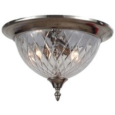 Crystorama C69CHCL Avery Flush Mount Ceiling Light - Polished Chrome