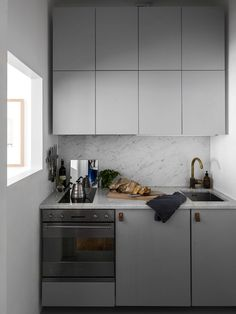 Interior | Inspiration | Small grey kitchen