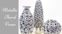 Diy Metallic Rose Vases| Simple and Inexpensive Home Decorating idea! - YouTube