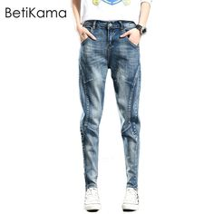 Why i-ll never Original Price US $44.99 Discount 3 BetiKama Hip Hop Women Jeans Vintage Denim Harem Trousers Pantalon Loose Elastic Jean Femme Plus Size Pencil Mom Jeans Blue #jeans_sexy
