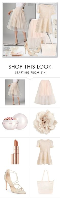 """""""Rosegal77"""" by sneky ❤ liked on Polyvore featuring Topshop, Guerlain, Cara, Estée Lauder and Schutz"""