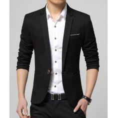 Men Suits 2016 New Arrival Brand-Clothing Autumn Masculine Blazer Men Fashion Slim Fit Suit Men Casual Solid Color Suit Blazer Male Jacket Cheap Mens Blazers, Blazers For Men Casual, Stylish Blazers, Casual Blazer, Mens Fashion Suits, Mens Suits, Suit Men, Blazer For Men Fashion, Fashion Black