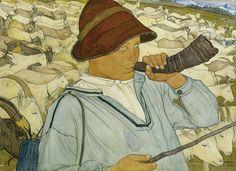 Ernest Bieler (Swiss, 1863-1948) Jeune Chevrier