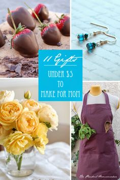 """""""11 Gifts Under $5 to Make for Mom,"""" from The Prudent Homemaker Blog, Saturday, May 10, 2014."""