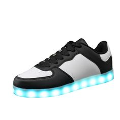 Adults Led Usb Charging Glowing Sneakers Hook Loop Footwear Unisex Fashion Luminous Casual Shoes For Men Women Dancing Shoes Perfect In Workmanship Shoes