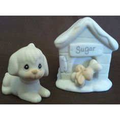 Enesco's Precious Moments Sugar Town Village - Sugar and Her Doghouse Figurine - Signed 1994 Trumpet 533165 NIB || Available for sale via the pin's link. To see our complete collection of Precious Moments available, check out our store under the Collectibles > Enesco > Precious Moments category at http://purpleiris.ecrater.com/c/1760136/precious-moments