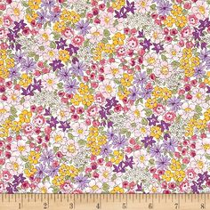 Kaufman Sevenberry Petite Garden Variety Purple from @fabricdotcom  From the world renown Sevenberry for Robert Kaufman, this cotton print collection is made in Japan and features small scale floral prints on high quality cotton. Perfectly suited to quilting, lined dresses and skirts, and more. Colors include shades of purple, yellow, green, and cream.