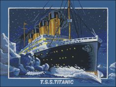Cross Stitch Pattern Titanic by NoahsDreams on Etsy