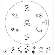 Korean nail art stamping KONAD. Plate m3 <3