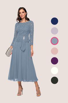 Older Bride Dresses, Brides Mom Dress, Dresses To Wear To A Wedding, Mob Dresses, Mothers Dresses, Tea Length Dresses, Grooms Mother Dresses, Tea Length Skirt, Wedding Dress