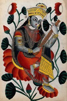 Kalighat Paintings.