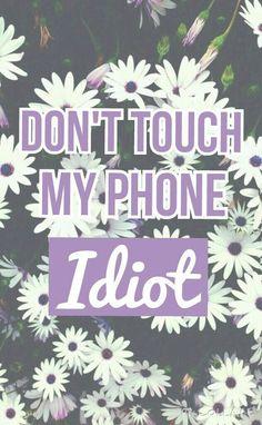 don't touch my phone - Google keresés
