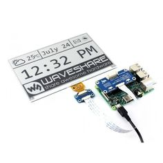 640x384, 7.5inch E-Ink display HAT for Raspberry Pi, SPI interface