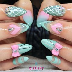 Some great inspo from @getbuffednails Love her nail art style! #kickartnails
