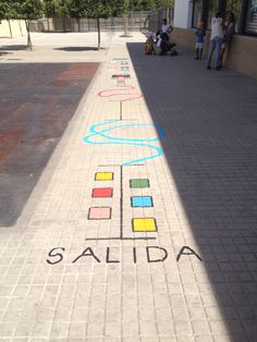 Sigue el recorrido #psicomotricidad Proyecto Alegra tu patio. Infantil